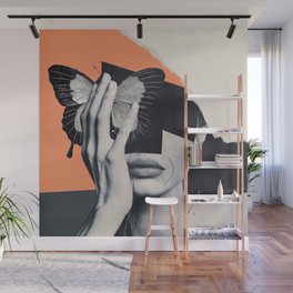 collage art / butterfly Wall Mural