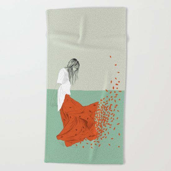 Woman Color 9 Beach Towel