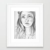 amy pond Framed Art Prints featuring amy pond  by Jill Schell