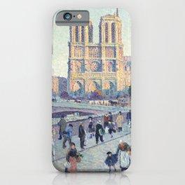 Maximilien Luce,  The Quai Saint-Michel and Notre-Dame iPhone Case
