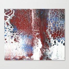 Blue Rust Acrylic Swipe Canvas Print
