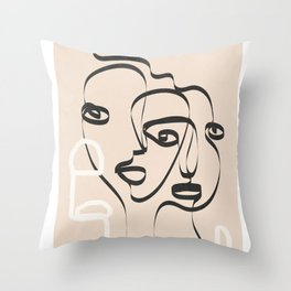 Abstract Minimal Line VIII Throw Pillow