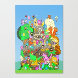 It's a small world full of assorted critters Canvas Print