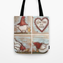 You Are So Loved Chickens - by Diane Duda Tote Bag