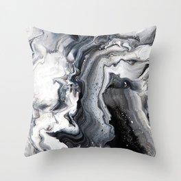 Marble B/W/G Throw Pillow