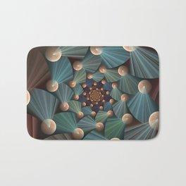 Graphic Design, Modern Fractal Art Pattern Bath Mat