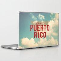 puerto rico Laptop & iPad Skins featuring Puerto Rico by Ákos Kőrös