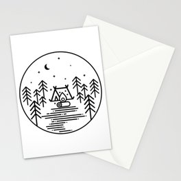 Camping in the Great Outdoors / Geometric / Nature / Camping Shirt / Outdoorsy Stationery Cards