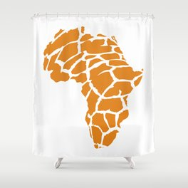 GiraffAfrica Shower Curtain