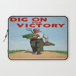 Vintage poster - Dig On For Victory Laptop Sleeve