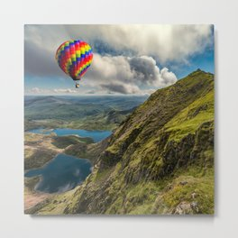 Snowdon Hot Air Balloon Metal Print