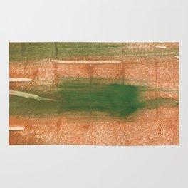 Peru green streaked wash drawing illustration Rug