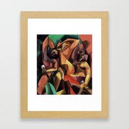 Selfie Cubista Framed Art Print