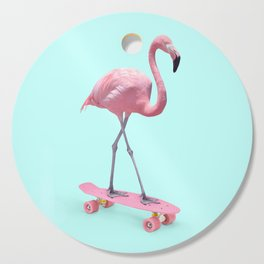 SKATE FLAMINGO Cutting Board