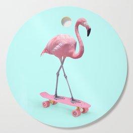 SKATE FLAMINGO Cutting Board