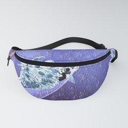 Blooming in the sky (blue-violet granite) Fanny Pack