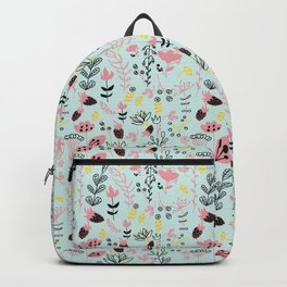 Bubble Gum Flowers Backpack