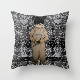 the brass monkey's brigade Throw Pillow