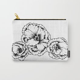 Poppies in Black Carry-All Pouch