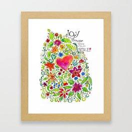Joy in Your Smile Framed Art Print