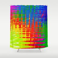 chaos Shower Curtains featuring Chaos by Geni