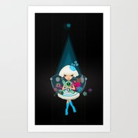 monster hunter Art Prints featuring hunter by Anne  Martwijit