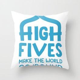 Hi-Fives Throw Pillow