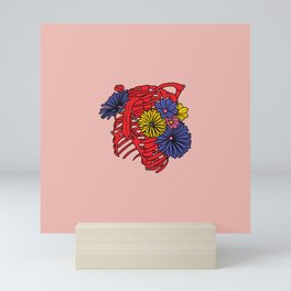 Flowers in your ribcage Mini Art Print