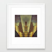 art deco Framed Art Prints featuring Art Deco by Sabina Miklowitz
