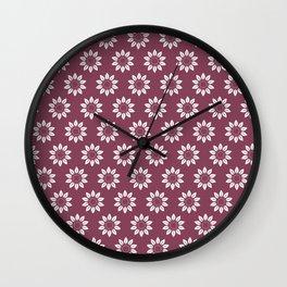 Ten Petal Flower Pattern (Mulberry) Wall Clock