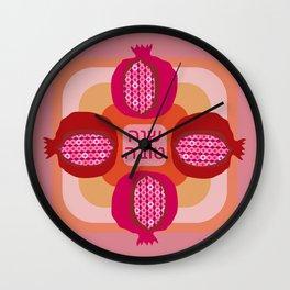 Jewish New Year Pomegranate Wall Clock