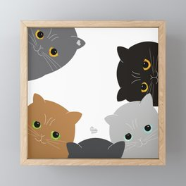 Cats Framed Mini Art Print