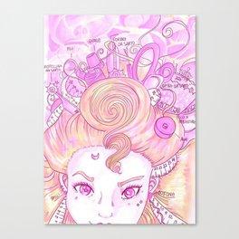 Sew Tools Girl Canvas Print