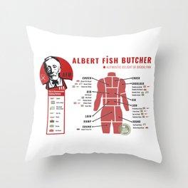 Albert Fish menu Throw Pillow