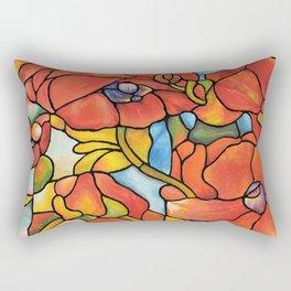 Red Poppy Lamp Rectangular Pillow