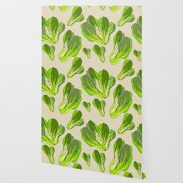 Lettuce Bok Choy Vegetable Wallpaper