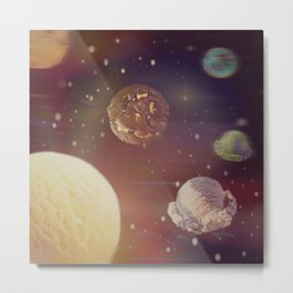 Planets of the iceshapes Metal Print