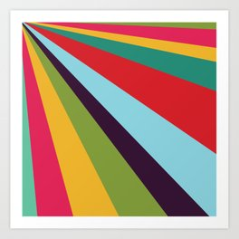 Bright Rays of Light - Circus Tent - Pride Beams - 57 Montgomery Ave Art Print