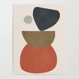 Abstract Balancing Stones Poster