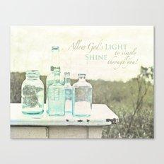 Light Shines Through Canvas Print