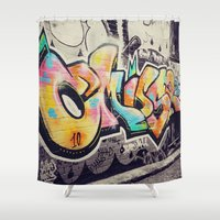 melbourne Shower Curtains featuring Melbourne Talent by Thalia May