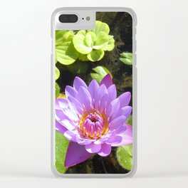 Purple Lilly Clear iPhone Case