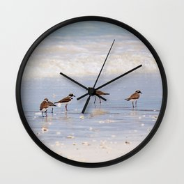 Sandpipers at the Ocean Wall Clock