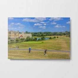 Teeing Off at Leeds Castle Metal Print