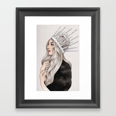 Silver Blonde Framed Art Print
