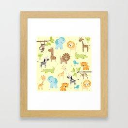 Jungle Animals Framed Art Print
