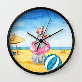 READY FOR A SWIM Wall Clock