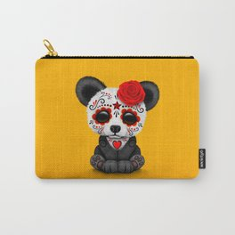 Red Day of the Dead Sugar Skull Panda Carry-All Pouch