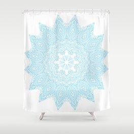 Moonlight Blue Mandala Bohemian Decor Medallion Shower Curtain