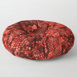 Red Snake Skin Floor Pillow